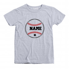 Baseball Name Custom Toddler T-Shirt